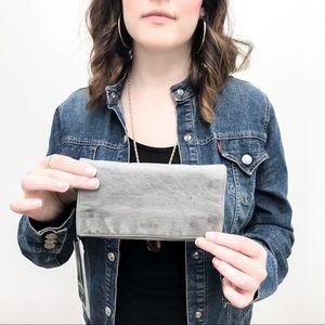 Latico Grey Leather Wallet - HOLLIS